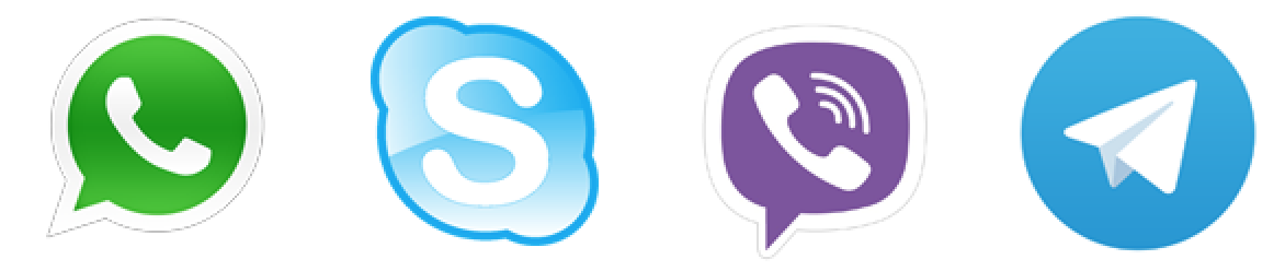 Viber, WhatsApp, Telegram и Skype